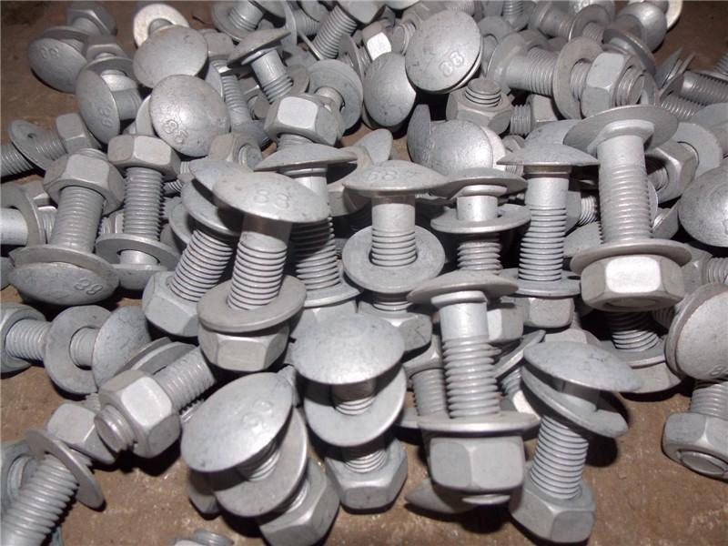 Boulons et écrous galvanisés pour glissières de sécurité